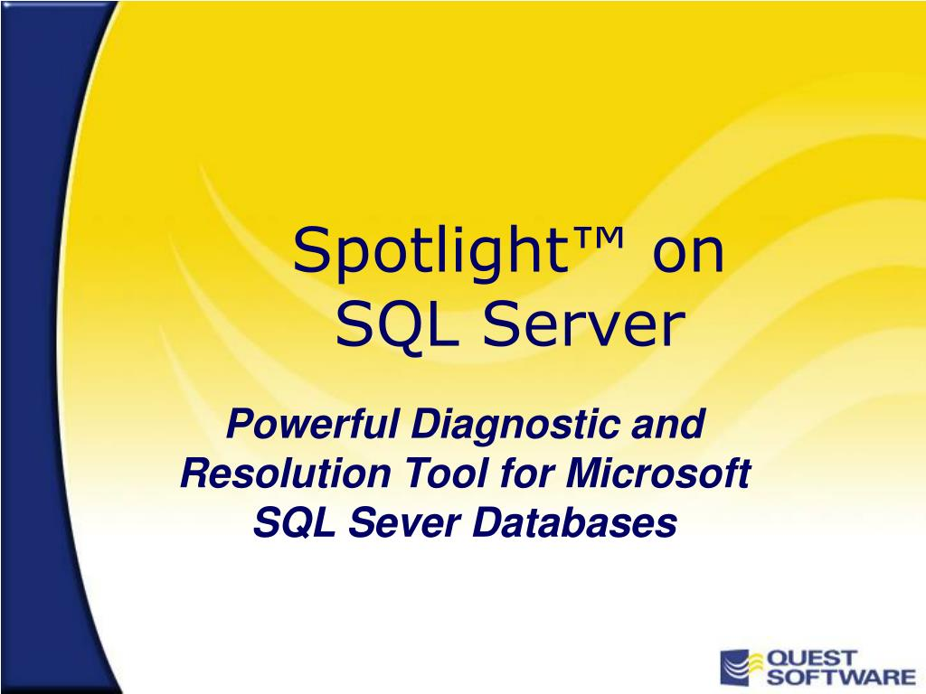 spotlight on sql server