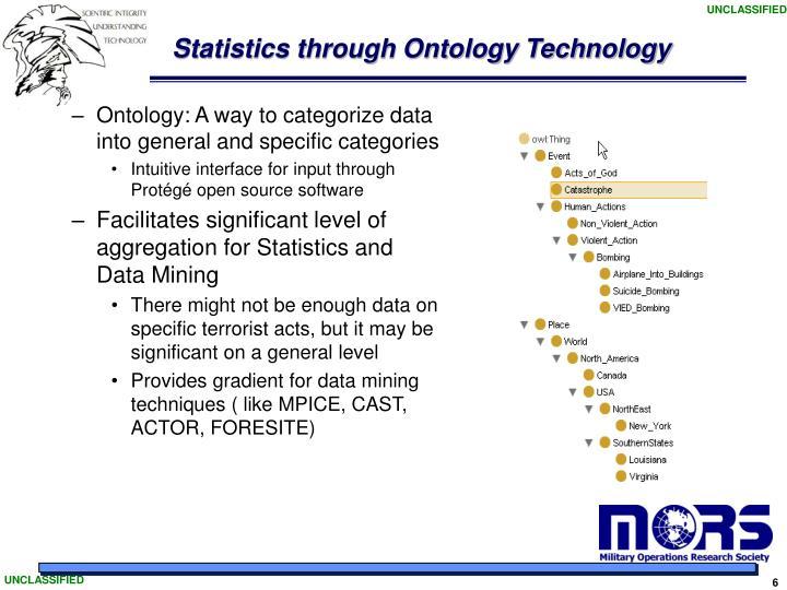 Statistics through Ontology Technology