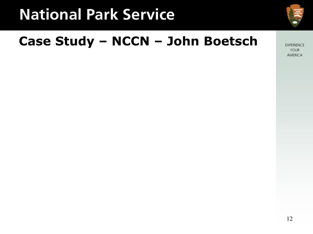 Case Study – NCCN – John Boetsch