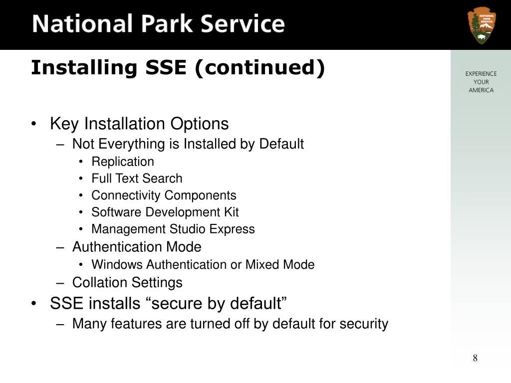 Key Installation Options