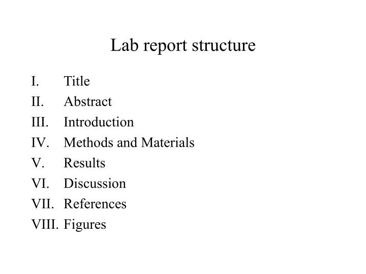 Lab report structure