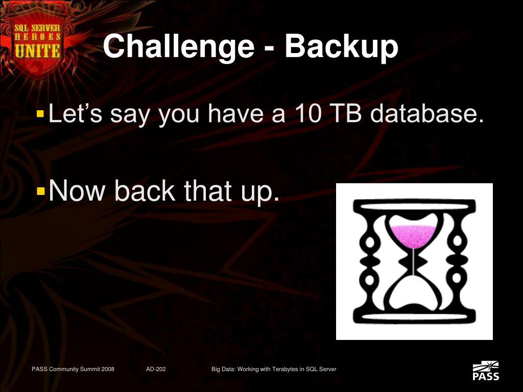 Challenge - Backup