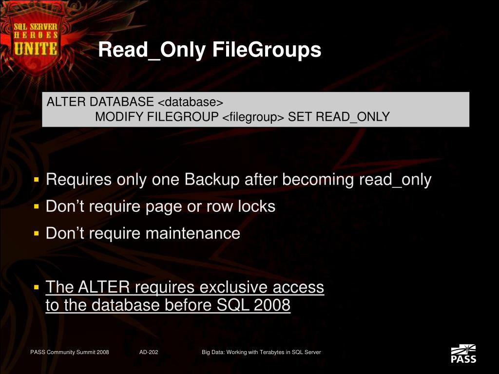 Read_Only FileGroups
