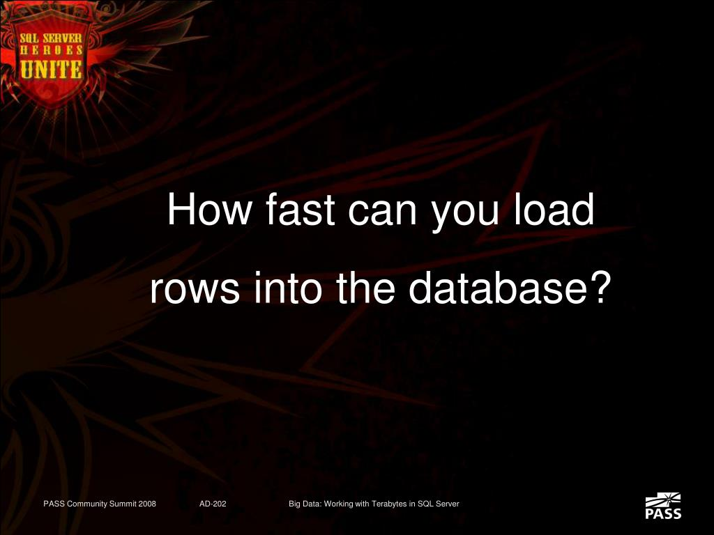 How fast can you load