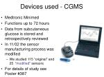 devices used cgms