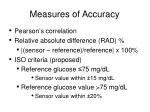 measures of accuracy