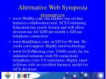 alternative web symposia resources