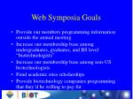 web symposia goals
