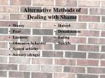 alternative methods of dealing with shame1