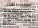 wearing christ s shame