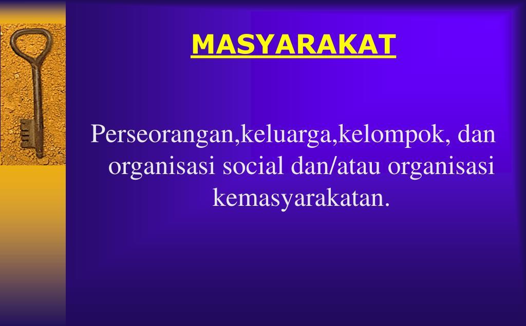 MASYARAKAT