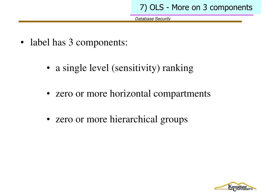 7) OLS - More on 3 components