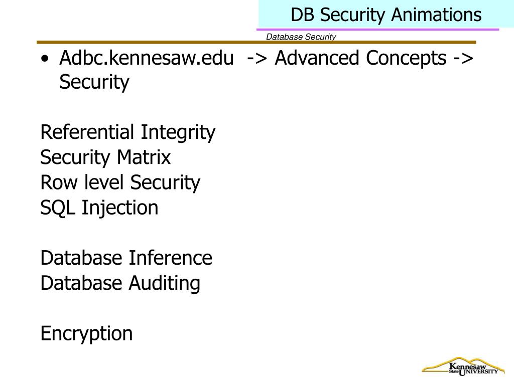 DB Security Animations