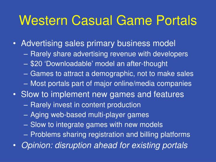 Western Casual Game Portals