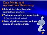 data mining and approximate reasoning