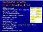 integration services extract transform load