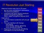 it revolution just starting