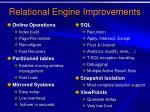 relational engine improvements