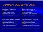summary sql server 2005