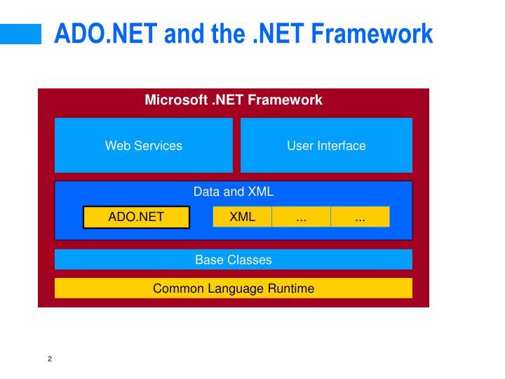 Ado net and the net framework