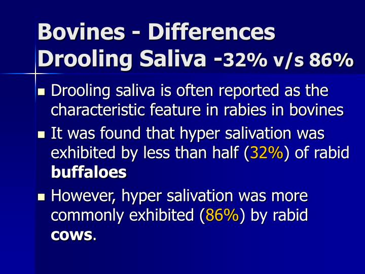 Bovines - Differences