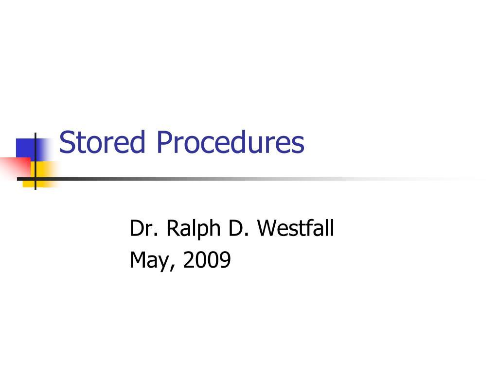 stored procedures l.