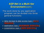 asp net in a multi tier environment cont