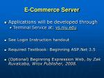 e commerce server