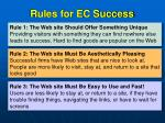rules for ec success