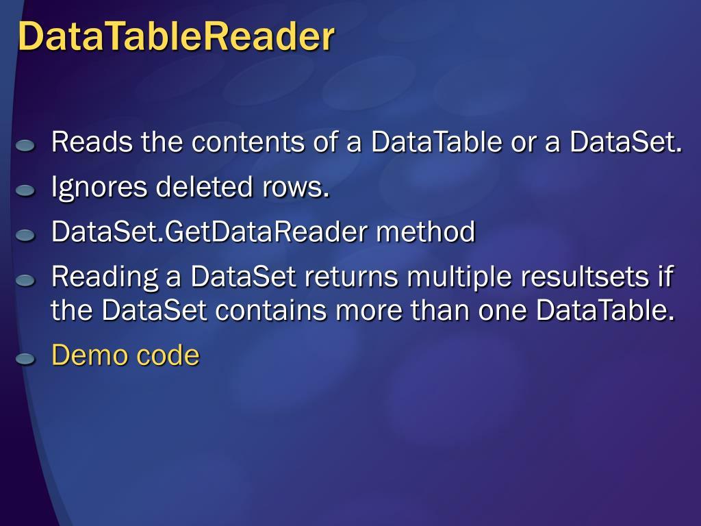 DataTableReader