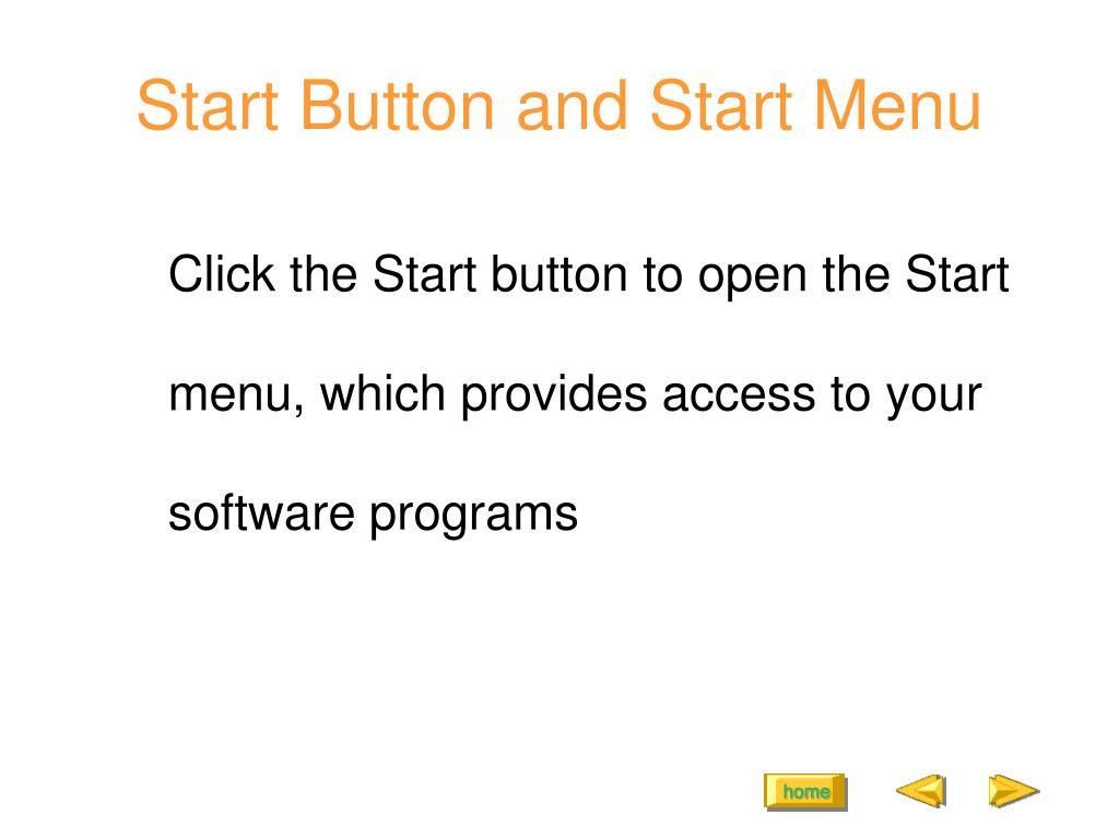 Start Button and Start Menu