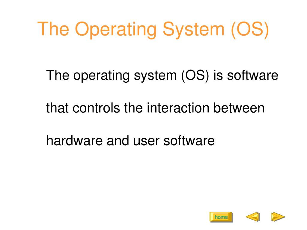 The Operating System (OS)