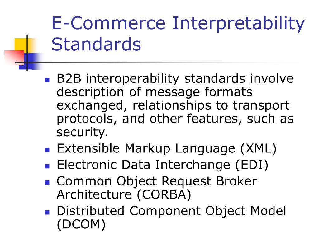 E-Commerce Interpretability Standards