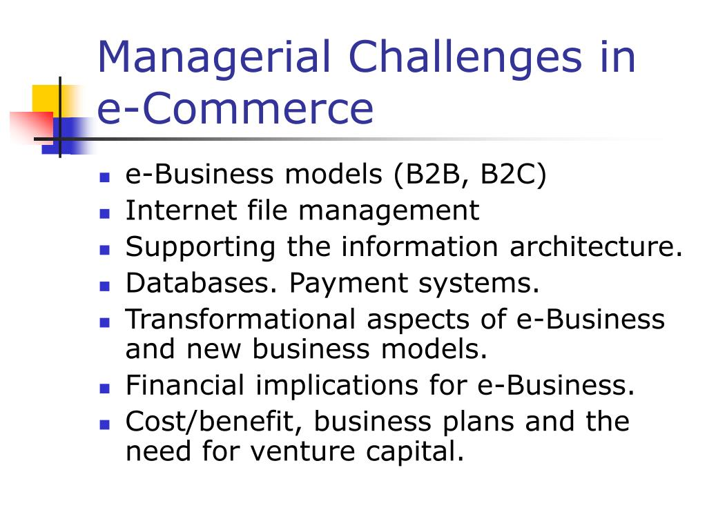 Managerial Challenges in e-Commerce