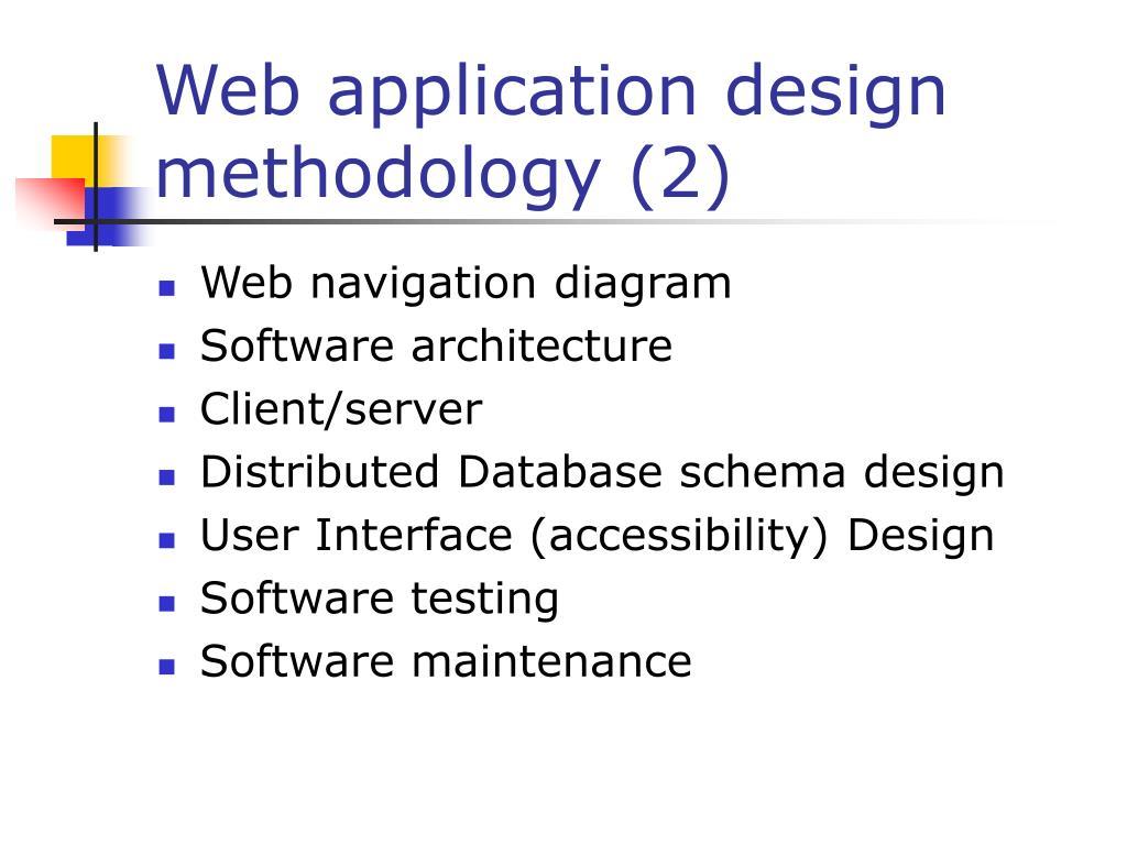 Web application design methodology (2)
