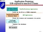 application prototype ejb exposed to non java clients