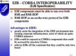 ejb corba interoperability ejb specification