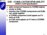 ejb corba interoperability omg s ccm specification