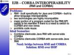ejb corba interoperability rmi and corba