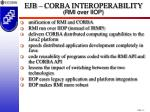 ejb corba interoperability rmi over iiop
