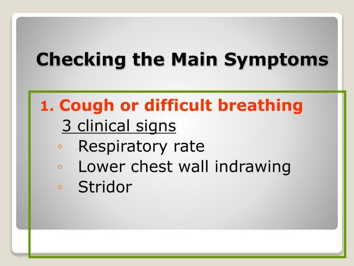 Checking the Main Symptoms