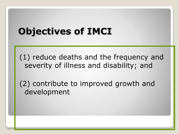 (1) reduce deaths and the frequency and severity of illness and disability; and