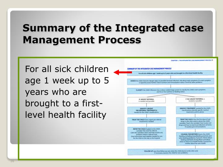 Summary of the Integrated case Management Process