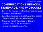communications methods standards and protocols