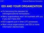 edi and your organization