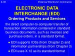 electronic data interchange edi ordering products and services