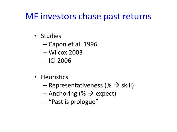 MF investors chase past returns