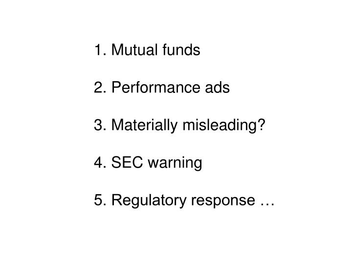 1. Mutual funds