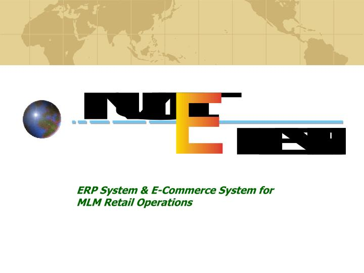 Erp system e commerce system for mlm retail operations