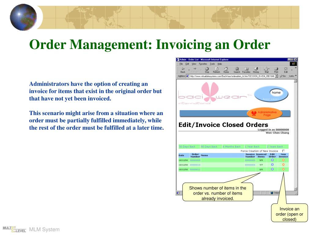 Order Management: Invoicing an Order